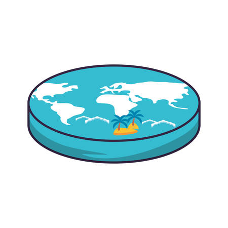 world planet earth maps icon vector illustration design