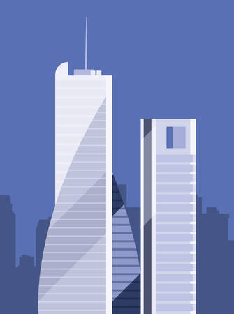 skyscraper urban city town sky background vector illustration