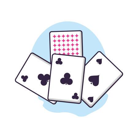 poker casino game cards icons vector illustration design