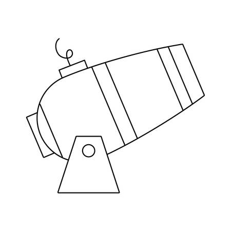 cannon weapon explosion isolated icon vector illustration design