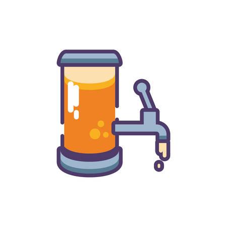 barrel of beer in white background vector illustration design