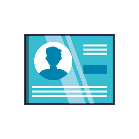 document id paper isolated icon vector illustration design