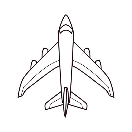 airplane transport on white background vector illustration