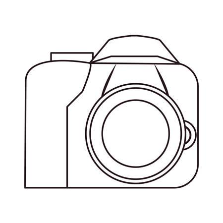 macchina fotografica gadget sfondo bianco illustrazione vettoriale Vettoriali