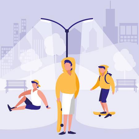 Men design, Park nature outdoor season spring and summer theme Vector illustration