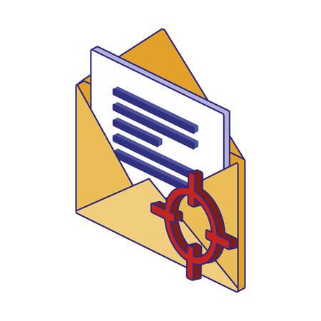 Envelope design of Security system warning protection danger web alert and safe theme Vector illustration