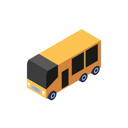 school bus color yellow on white background vector illustration design