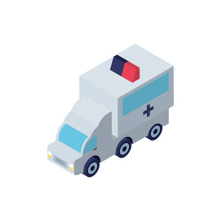 ambulance car on white background vector illustration design