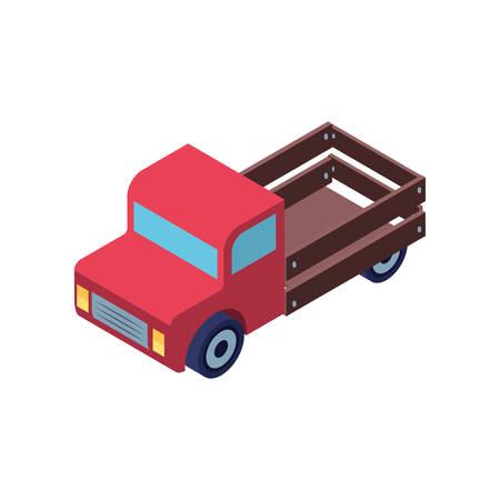 red truck on white background vector illustration design
