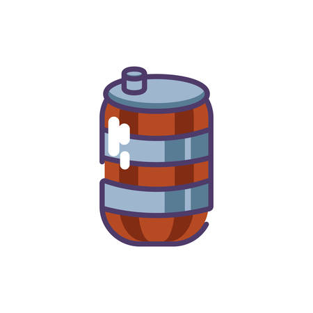can of beer in white background vector illustration design  イラスト・ベクター素材