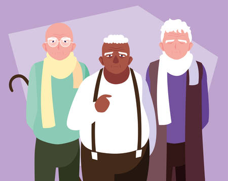 group of old men avatar character vector illustration design Фото со стока - 136691729