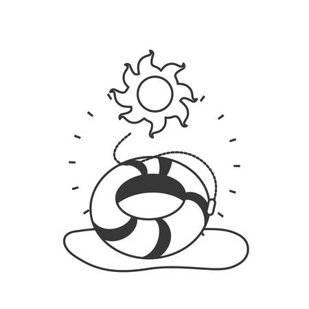 float protection summer accessory icon vector illustration design