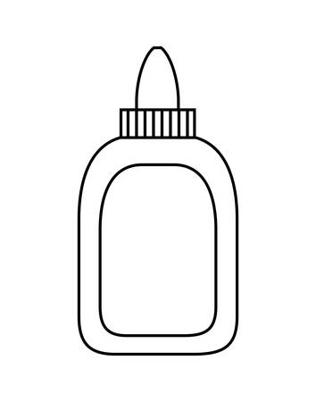glue bottle school supply isolated icon vector illustration design