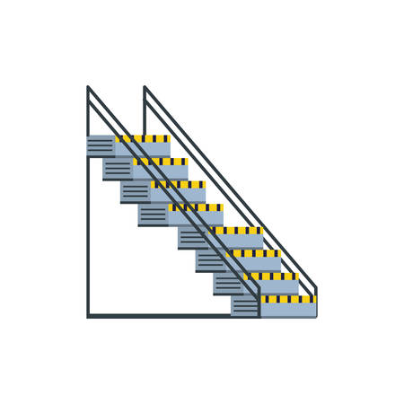 industrial factory stairs scene vector illustration design