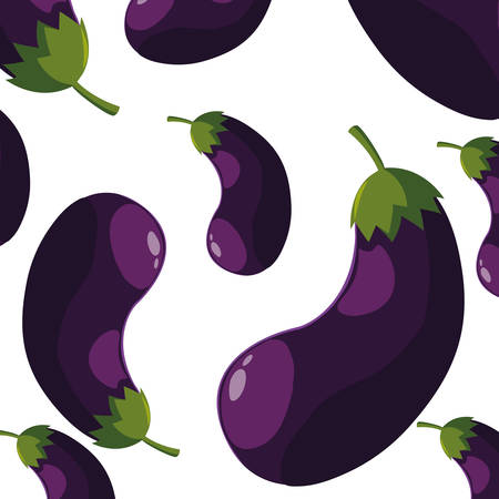 eggplants design, Vegetable organic food healthy fresh natural and market theme Vector illustration
