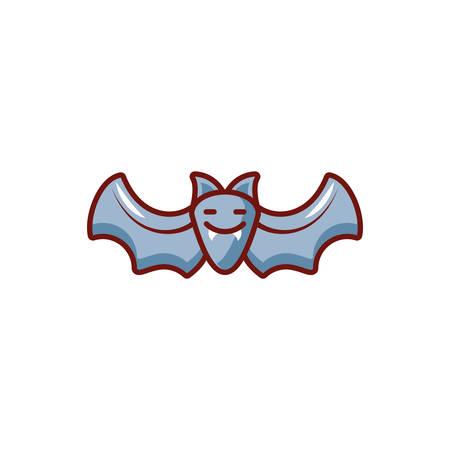 bat flying on white background vector illustration design