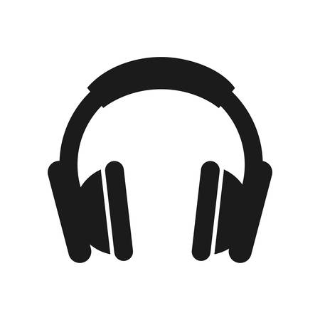 Appareil écouteurs musique sound design vector illustration