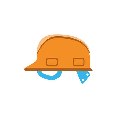 helmet design of Construction working maintenance workshop repairing progress labor and industrial theme Vector illustration