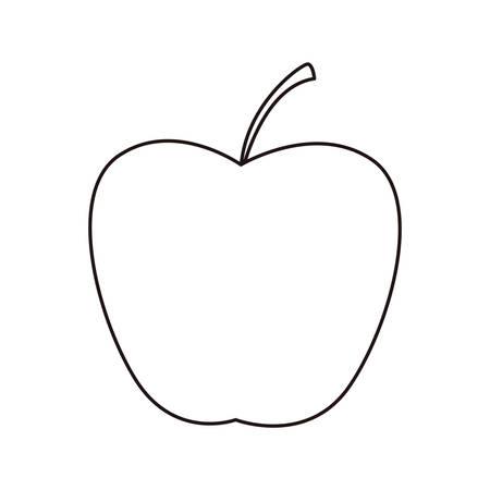 Icône de cuisson pomme sur fond blanc vector illustration