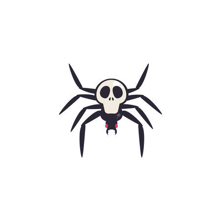 creepy spider animal on white background vector illustration design 向量圖像