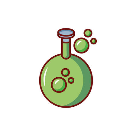 laboratory instrument with bubbles on white background vector illustration design