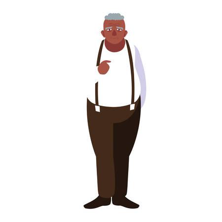 happy grandparents day - cute grandpa character vector illustration Stock Illustratie