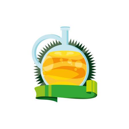 oil jar health isolated icon vector illustration design