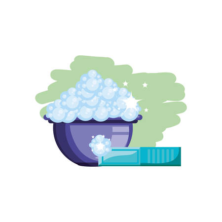 Cleaning bucket design, Object home work hygiene equipment domestic and housework theme Vector illustration
