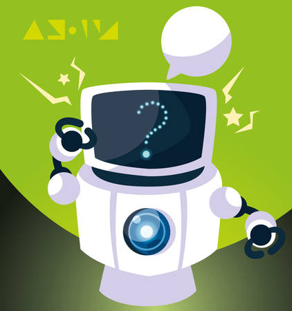 Robot design, Robotic tecnology futuristic toy machine cyborg science and android theme Vector illustration Stock Illustratie