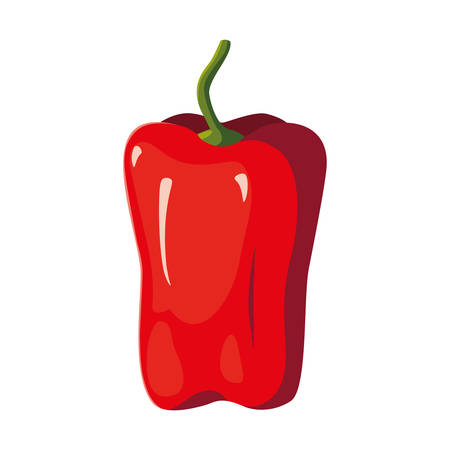 fresh vegetable pepper on white background vector illustration  イラスト・ベクター素材