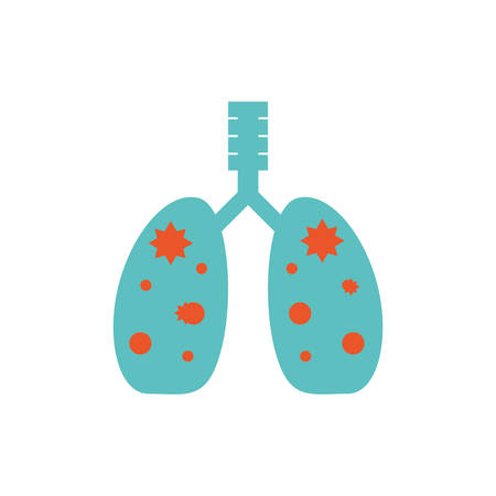 virus inside lungs design, Pollution factory environment dirty danger industry plant chemical and toxic theme Vector illustration