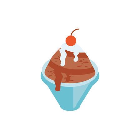 Ice cream design, Sweet dessert food flavor scoop summer dairy and tasty Vector illustration