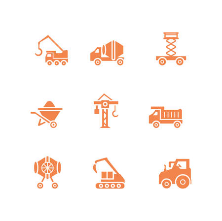 Tools icon set design, Under construction architecture work repair progress warning industry and build theme Vector illustration Иллюстрация