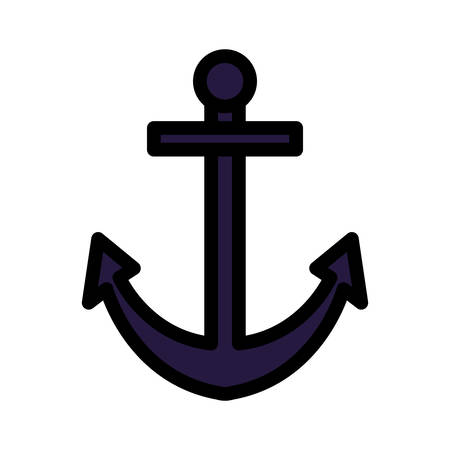 Anchor icon design, Sea nautical marine ocean sea ship iron metal and vintage theme Vector illustration