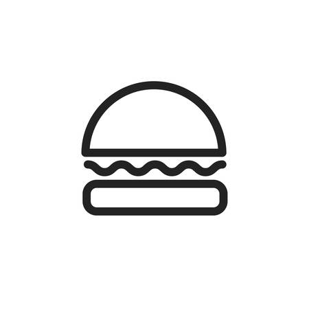 hamburger icon design, Eat food restaurant menu dinner lunch cooking and meal theme Vector illustration