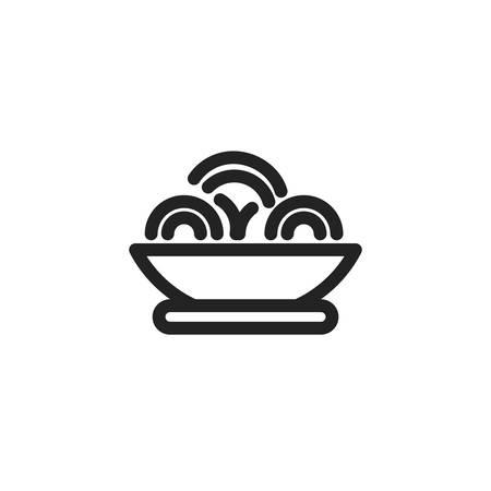noodles icon design, Eat food restaurant menu dinner lunch cooking and meal theme Vector illustration Ilustração