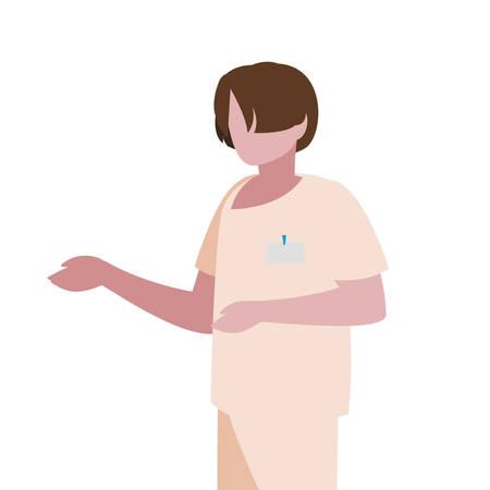 male medicine worker with uniform vector illustration design