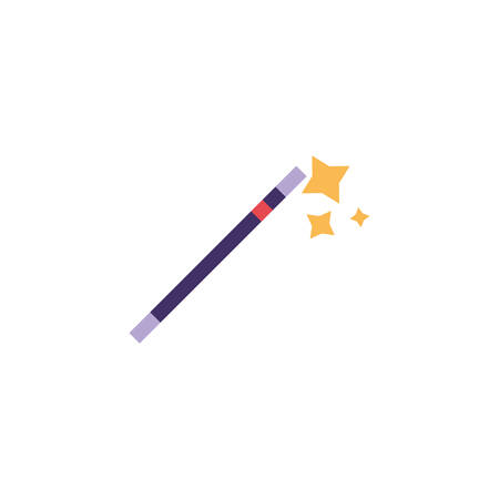 magic wand on white background vector illustration design