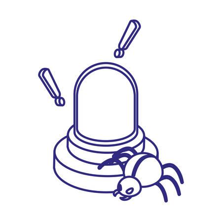 Alarm and bug design of Security system warning protection danger web alert and safe theme Vector illustration