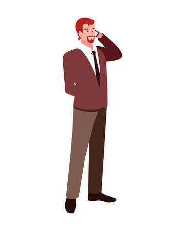 businessman standing on white background vector illustration design