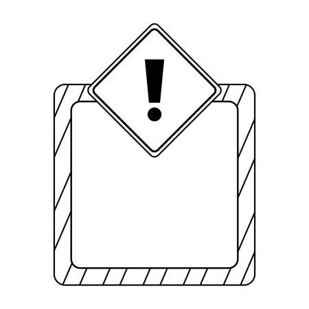 signaling alert isolated icon vector illustration design