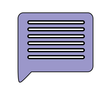 Communication bubble icon design, Message discussion conversation talk and technology Vector illustration Иллюстрация