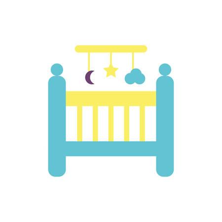 baby cradle design, Child newborn childhood object innocence and little theme Vector illustration Illustration