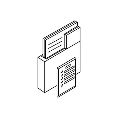 folder documents data with document vector illustration design Ilustração