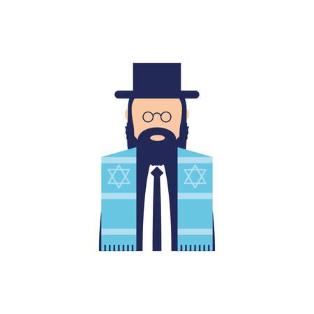 Jewish man design, Hanukkah holiday celebration judaism religion festival traditional and culture theme Vector illustration