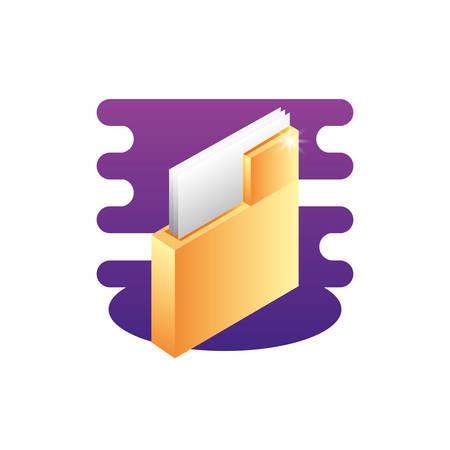 folder documents data icon vector illustration design