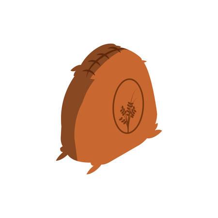 wheat bag in white background vector illustration design