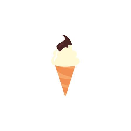 Sweet ice cream icon design, dessert food delicious sugar snack and tasty theme Vector illustration Stock fotó - 137503677