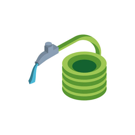 hose with faucet on white background vector illustration design