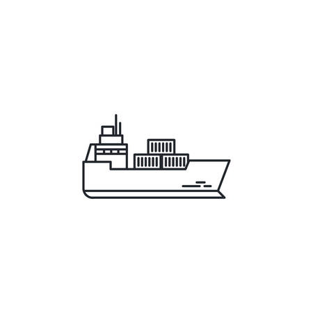 Ship design, Delivery shipping logistics transportation distribution and merchandise theme Vector illustration